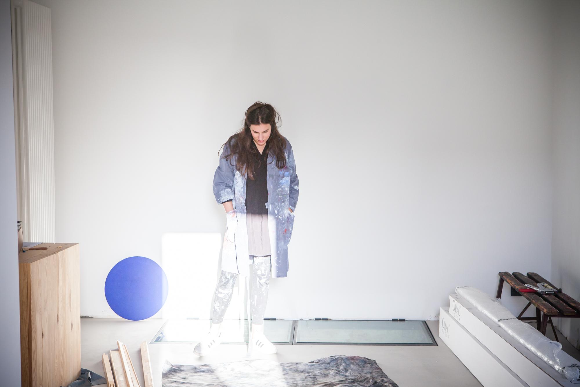 Liesbeth Spruyt in haar atelier.